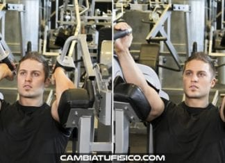 Extensiones en maquina de triceps