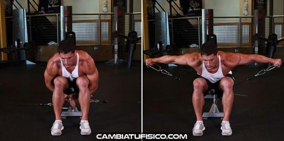 ejercicios para hombros deltoides posterior