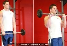 Curl invertido con barra