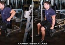 Fondos en máquina para tríceps