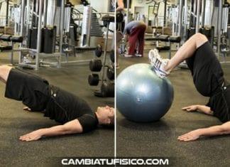 Curl femoral en balon de ejercicio