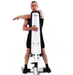 Estiramiento del hombro con soporte