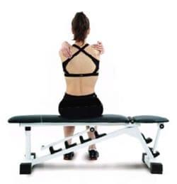 Estiramiento del hombro bilateral