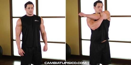 Estiramiento del hombro posterior