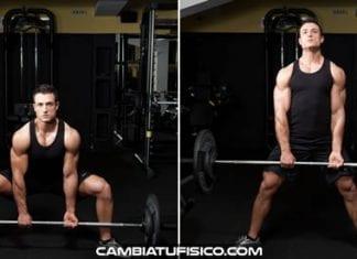 Peso muerto con barra estilo sumo