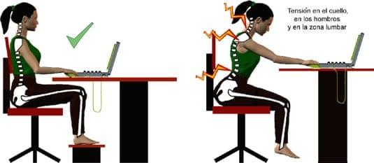 La postura correcta un factor importante en nuestro for Sillas para una buena postura